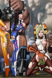D.Va, Junkrat, Mercy, Roadhog, Tracer and Widowmaker