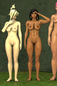 Mei, Mercy, Pharah, Tracer, Widowmaker and Zarya