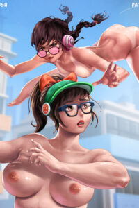 D.Va and Mei