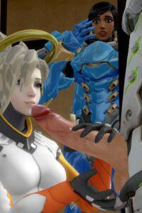 Genji, Mercy and Pharah