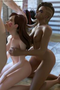 D.Va and Sombra